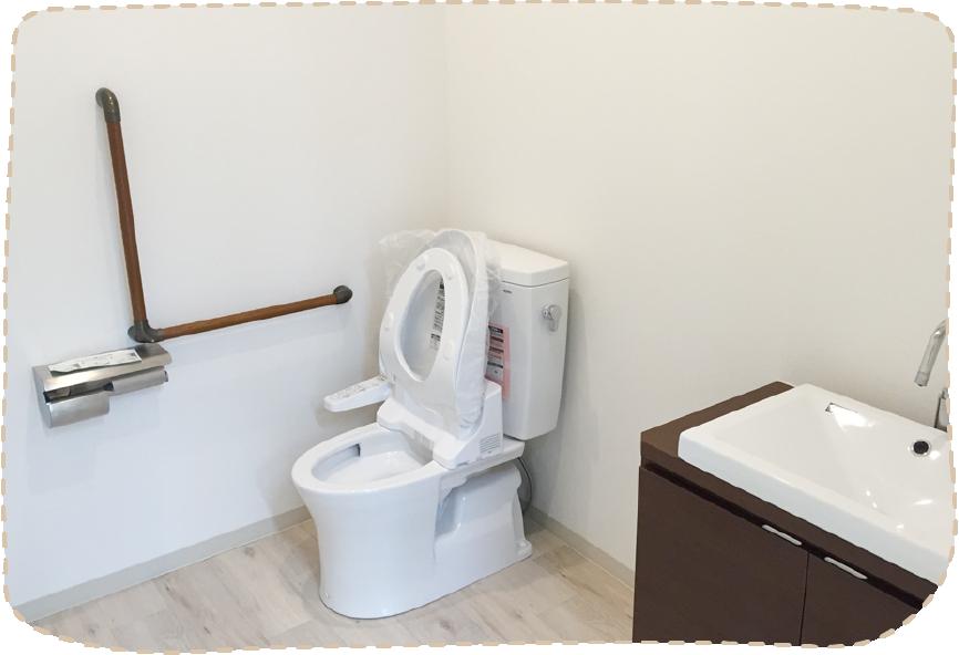 こだわりのトイレ完成